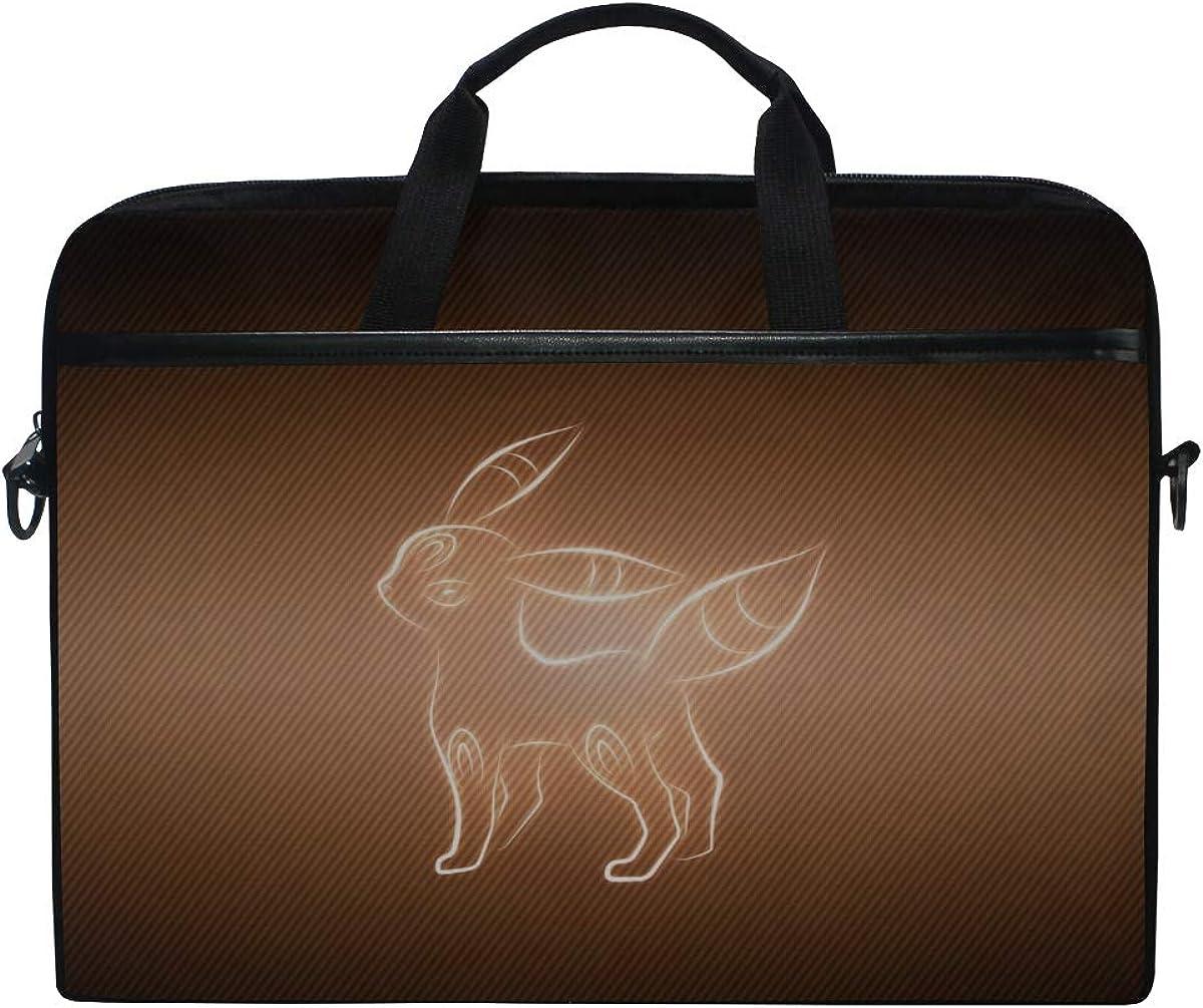 Animal Umbreon Pokemon Laptop Shoulder Messenger Bag Case Sleeve For 14 Inch To 15.6 Inch With Adjustable Notebook Shoulder Strap