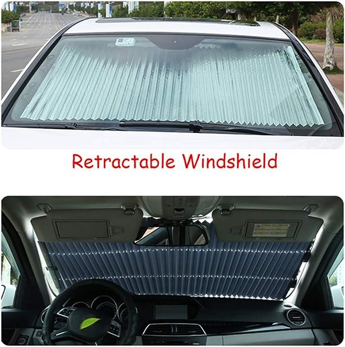 Automatische Einziehbare Windschutzscheibe Sonnenschutz Mehr Größe Teleskop Auto Vorne Sonnenschutz Sommer Hinten Auto Visier Auto Verhindern Wärme 70 Cm Auto