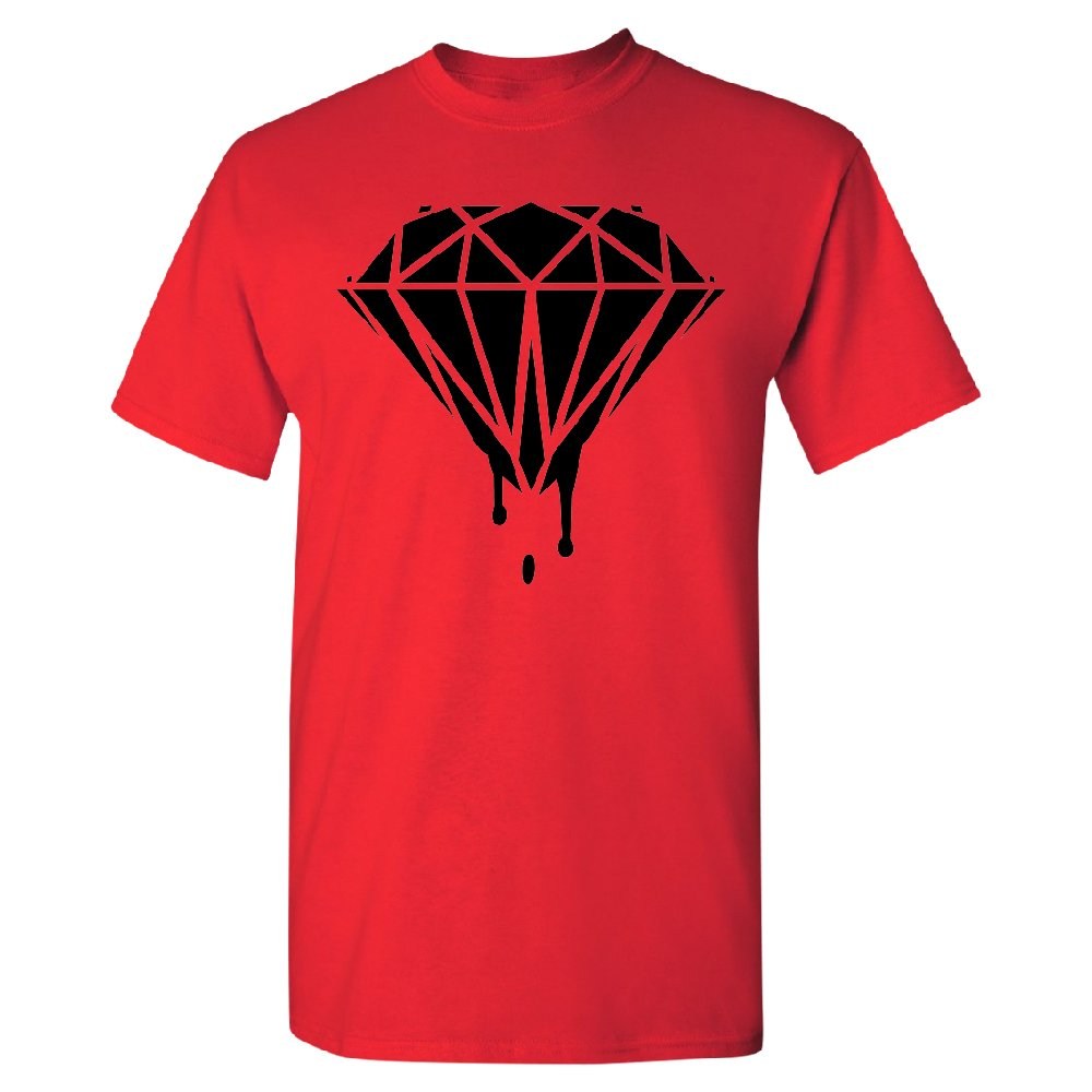 Black Melting Crying Diamond Men's T-shirt Brand New Quality Tee Red Medium