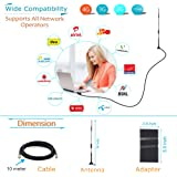 """4G,3G,GSM & CDMA 9dbi High Gain Outdoor Antenna For Mobile, Data Card & Router With 10 Meter Cable & 5.9"""" Big Adapter, Best Network Solution For All Network Operators Like (Tata, Airtel, Mtnl, Bsnl, Cellone, Virgin, Videocon, Bpl, Mts, Reliance, Idea, Vodafone, Uninor & Escotel Etc) For Use at Home/Office/Basements"""