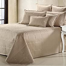 Crista Coverlet King Size in Taupe Color