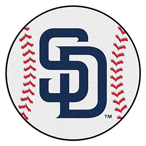 San Diego Baseball Mat (FANMATS MLB San Diego Padres Nylon Face Baseball Rug)