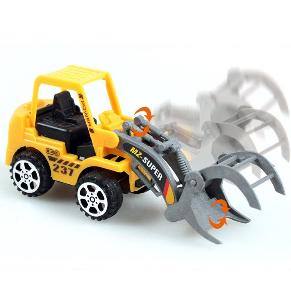 Demiawaking 6X Kinder Mini Auto Spielzeug Lot Fahrzeug Sets P/ädagogische Engineering Fahrzeug