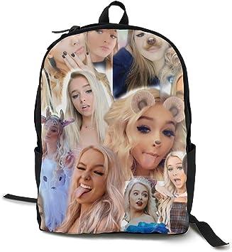 RZJMRU Entoma Orerlord Backpacks College Laptop Bag for Men Women Pink Backpack