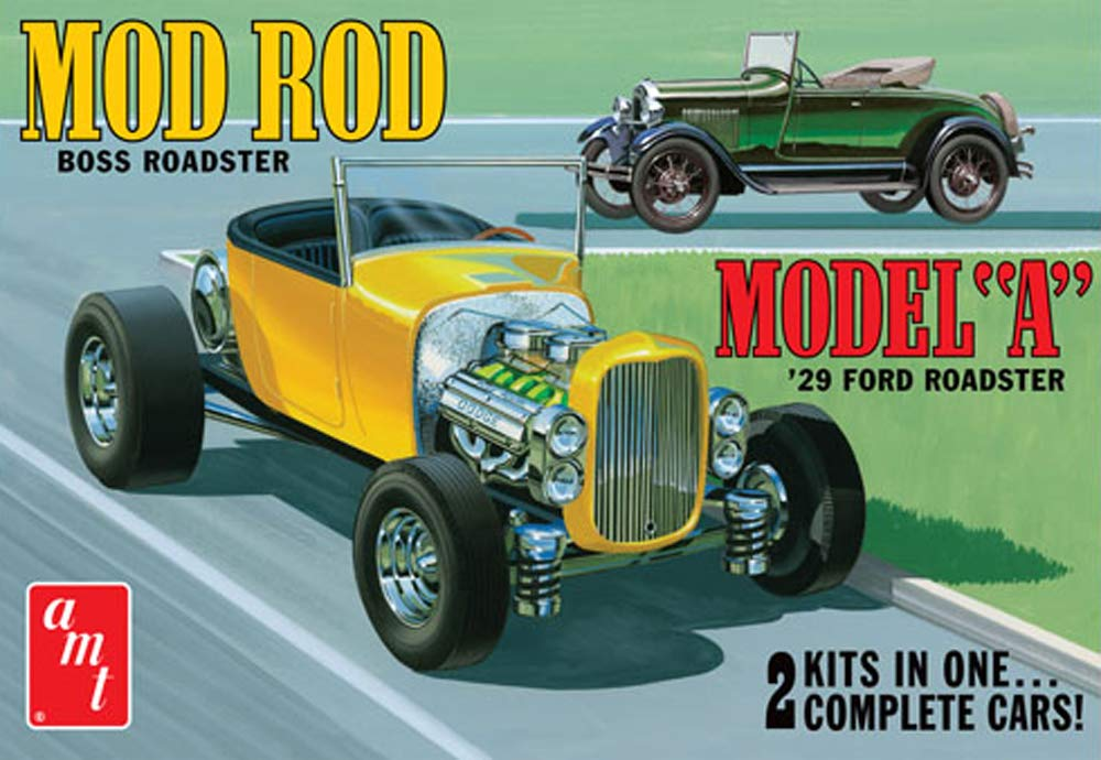 AMT AMT1002 1:25 Scale 1929 Ford A Roadster Mod Rod Model Kit