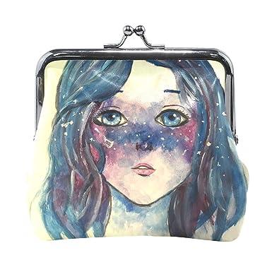 Amazon.com: Monedero Galaxy Girl lindo para mujer cartera de ...