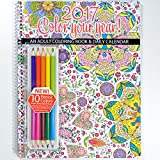 "2017 Calendar - Adult Coloring Planner - Includes Colored Pencils - Designer Organizer 8.5"" x 11"" Planning Calendar and Coloring Book With Pencils"