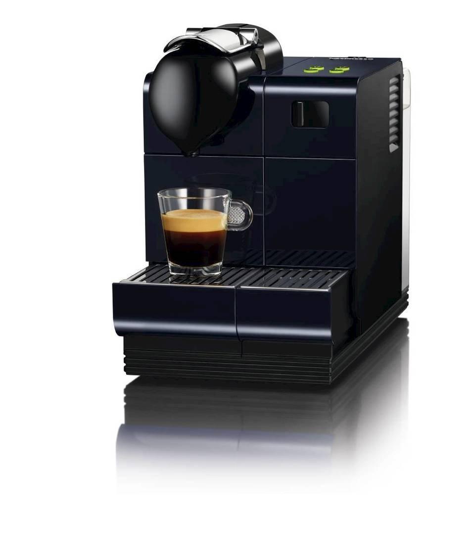 Nespresso Lattissima + Midnight Blue EN520BL DeLonghi - Cafetera monodosis (19 bares, Preparación automática de Capuccino, Apagado automático programable), ...