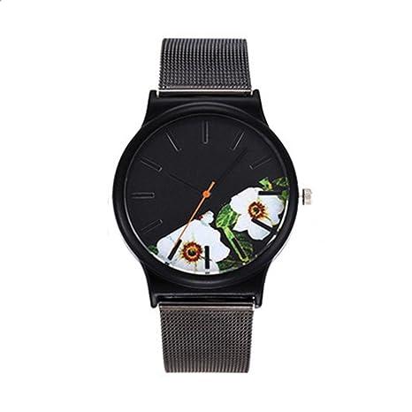 Relojes Hombre Ofertas, Vansvar Casual Quartz Acero Inoxidable Band Marble Correa de Reloj Analog Wrist