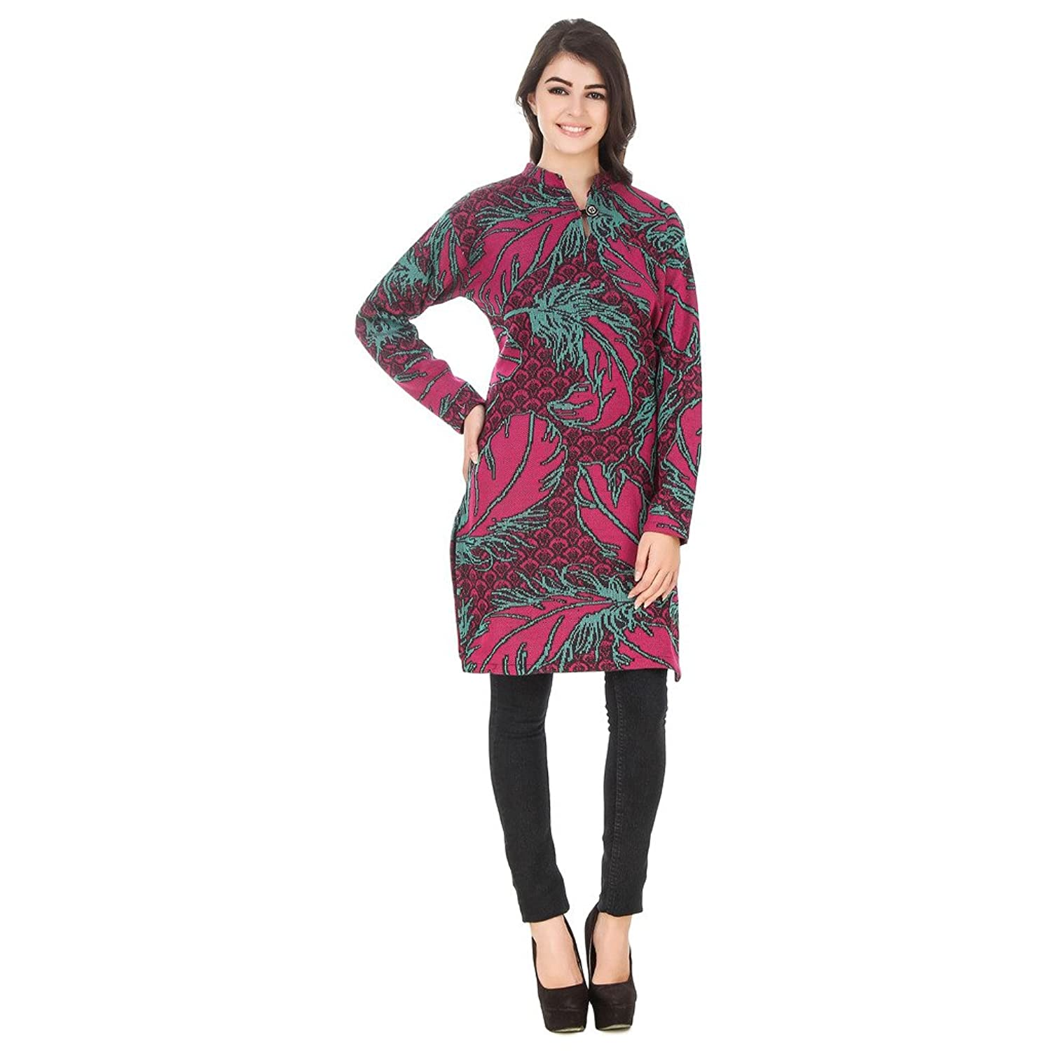 75588cc8f Komal Trading Collection Casual Solid women Purple Casual Wear Woolen Kurtis  so soft