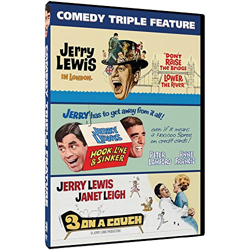 Jerry Lewis Comedy Triple Feature DVD - 5 Hours 3 Funny Movies In One - Creek Johnson Hours