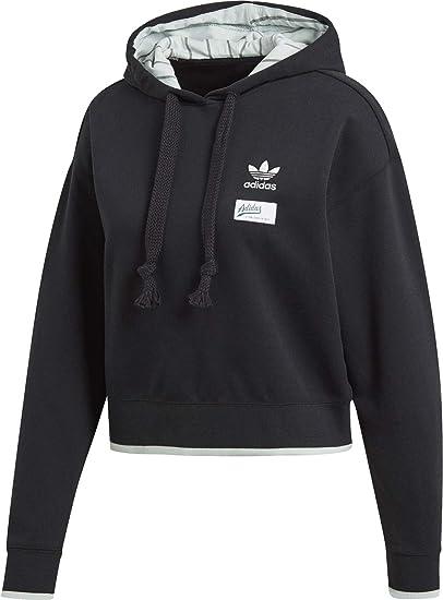 adidas Cropped W Hoodie Black: : Bekleidung