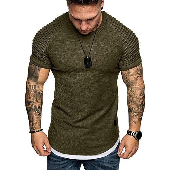 best website d6db9 a8b43 Hanomes Herren Kurzarm,T-Shirt Herren Rundhals T Shirts ...