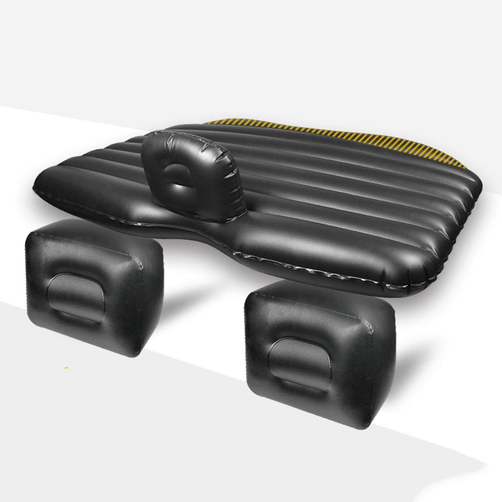 車のインフレータブルベッドトラベルベッドSUV車のリアエキゾーストベッドのベッドサロンのベッドアダルトスリーピングマット B07DS43NW2 ブラック ブラック