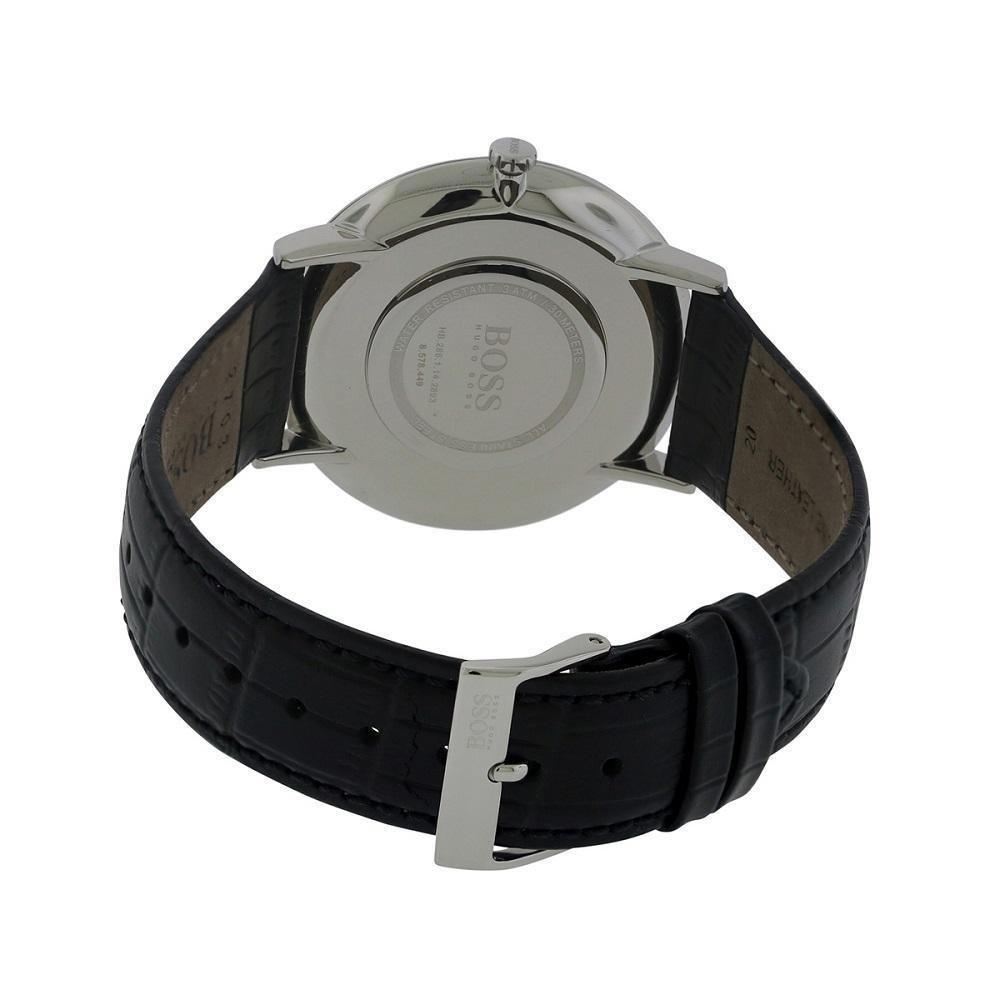 2df64a9274a4 Hugo Boss Jackson 1513369 negro negro piel analógica cuarzo hombres del reloj  por Hugo Boss  Amazon.es  Relojes