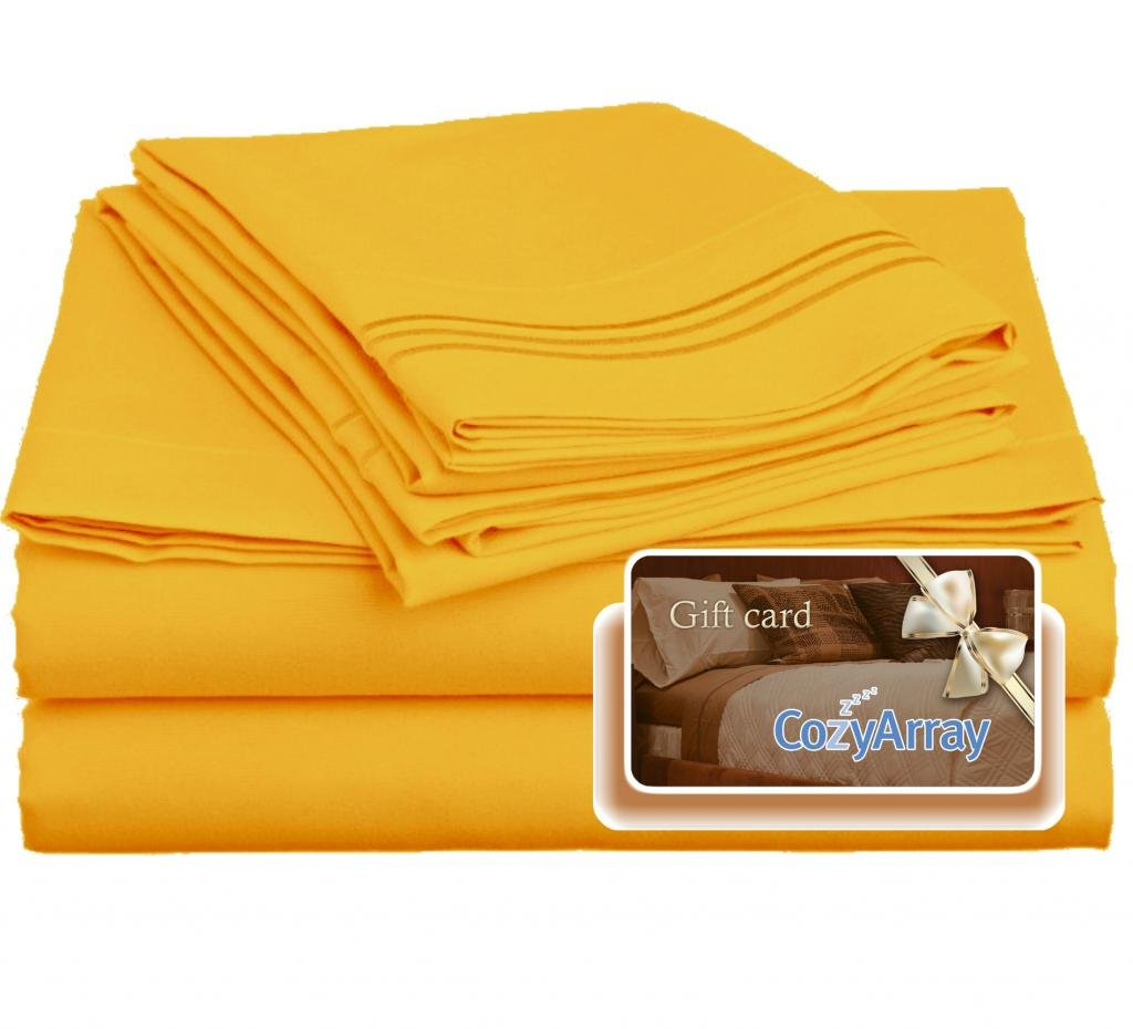 Clara Clark ® Premier 1800 Collection Bed Sheet Set Yellow
