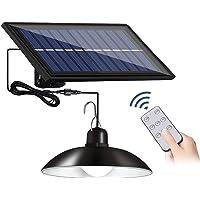 JYDirect Solar Lights Outdoor/Indoor,Remote Control Solar Powered Pendant Lights IP65 Waterproof,3 Brightness Adjustment…