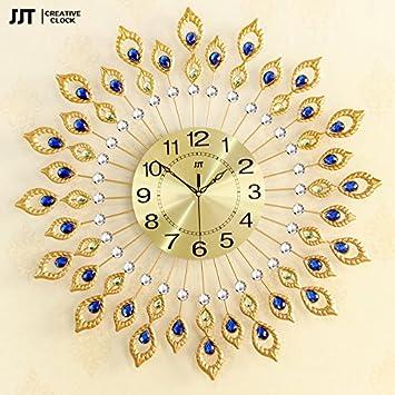 Amazon.com: Luxury European Style Creative Iron Art Wall Clock ...