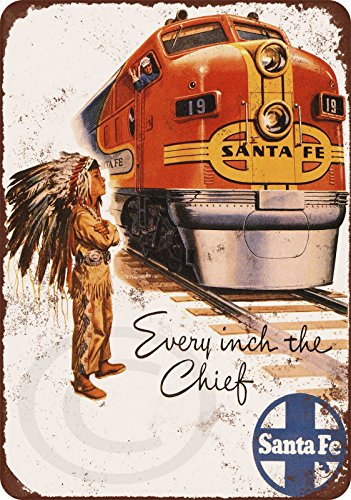 1948 Santa Fe Railroad Super Chief vintage look reproduction metal sign 8 x 12