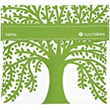 Lunchskins Reusable Velcro Sandwich Bag, Green Tree