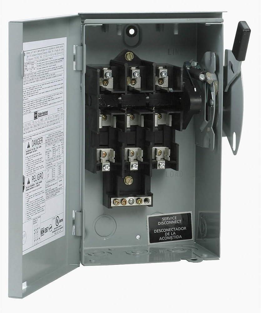 DG321UGB/-/Load Break 30 A 3 Pole B Series 240 V