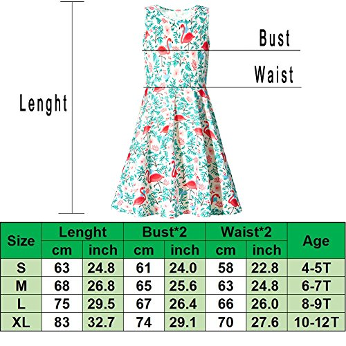 Uideazone Little Girls Print Unicorn Cute Funny A-Line Sleeveless Dress 6-7 Years by Uideazone (Image #3)