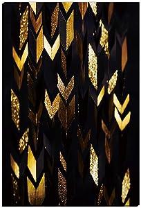 Hitecera Arrows Gold Retro Geometric Pattern,cat Gifts,Room Decor for Men Bedroom,8''x12''