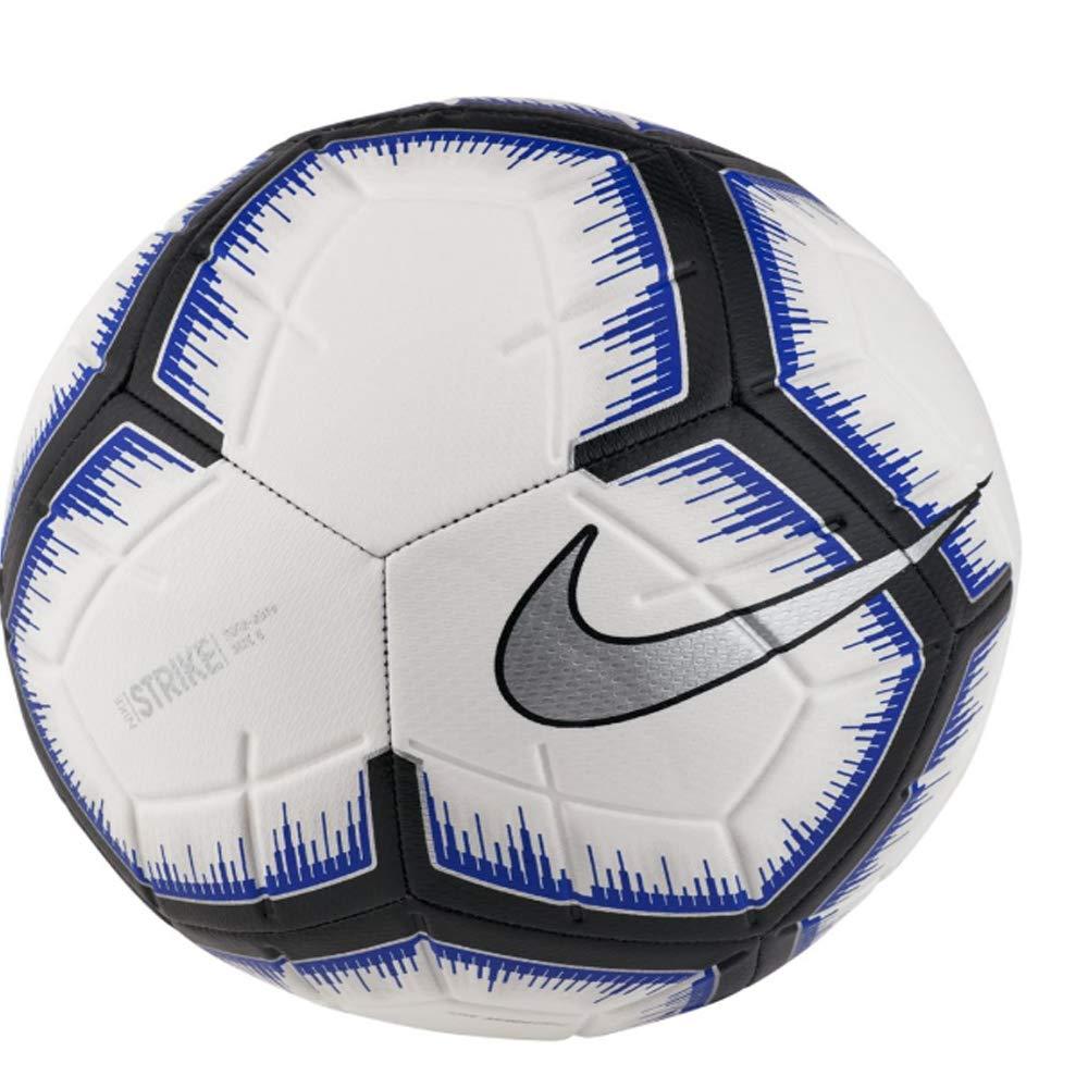 Nike Strike Balón de fútbol (Blanco/Azul) tamaño 3: Amazon.es ...
