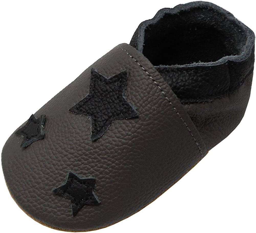 YIHAKIDS Soft Sole Baby Shoes Infant Toddler Leather Moccasins Slippers Unisex 0-36 months