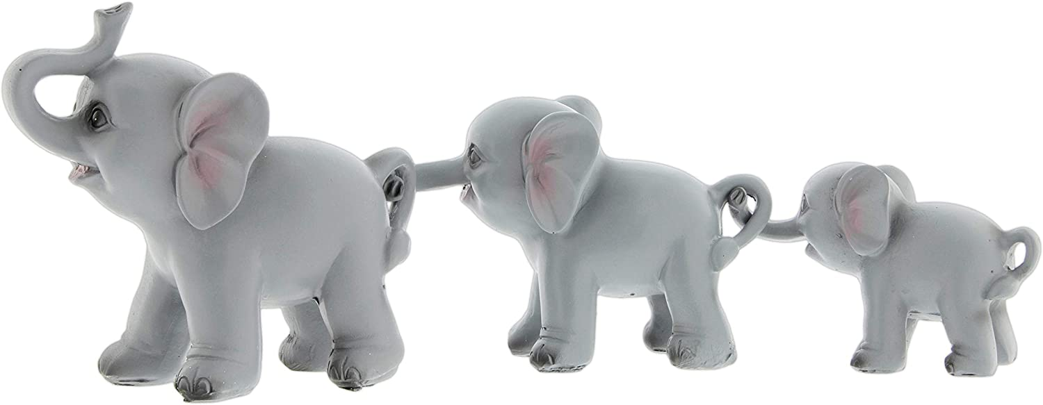 The Bridge Collection 3 Elephants in a Row Figurine Set
