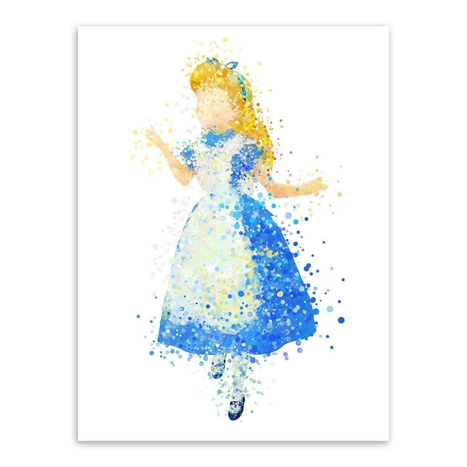 Amazon com: Watercolor Fairy Princess Movie Snow Elsa