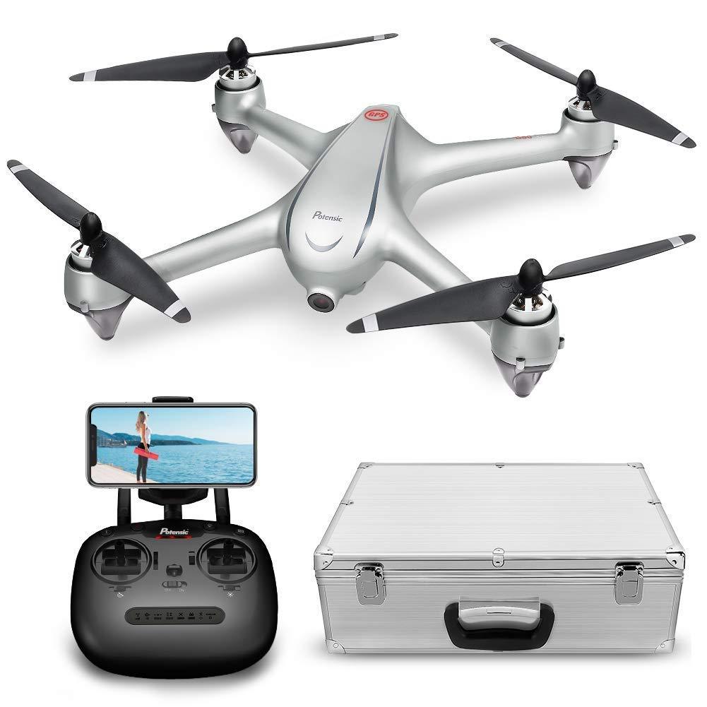 Drone GPS Con Motore Brushless Potensic Drone D80 WIFI Con Telecamera 1080P HD Dual GPS Funzione di RTH