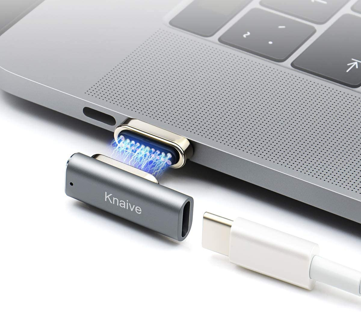Knaive KD3 Compatible with MacBook Pro USB C Magnetic Adapter 20Pins Magnetic to USB C 3.1 Converter Adapter,Support 100W PD,10Gbp/s Data,4K Video for More Type-c Device