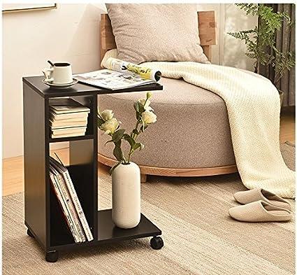 Amazon.com: Modern End Tables For Living Room Wooden,Black Sofa Side ...