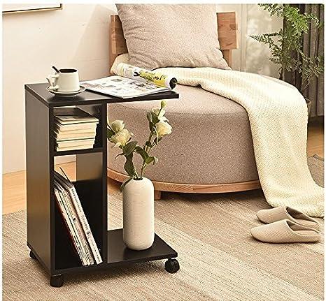 Sofá cama lado mesita auxiliar mesa de salón oficina sofá café mesa auxiliar - fácil de