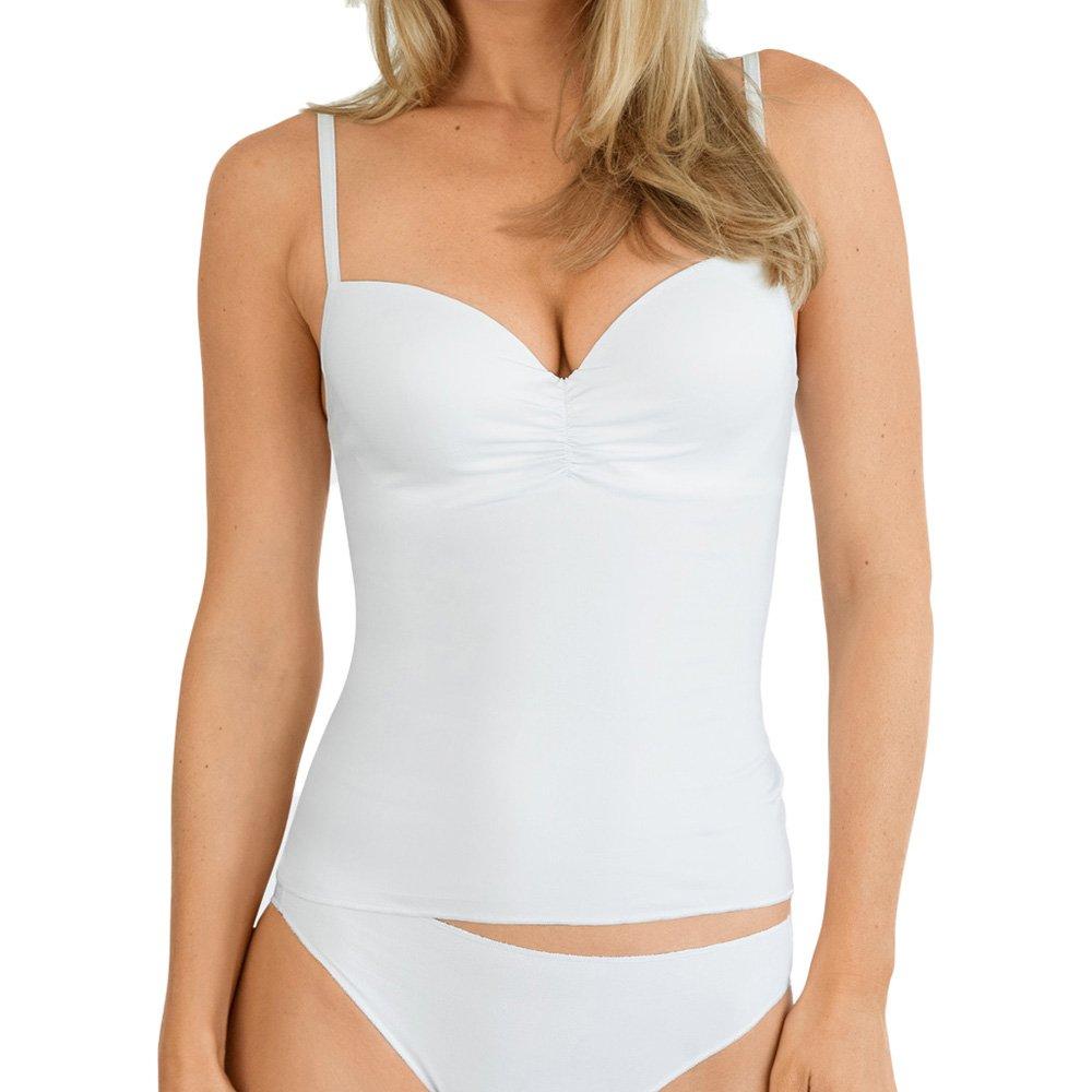 Nina von C. Damen BH-Top Secret - Weiß, Schwarz, Champagner, Caramel - Größe 75A bis 90D - BH-Unterhemd mit Softschale - Formbügel - feminines BH-Hemd 15-361-112