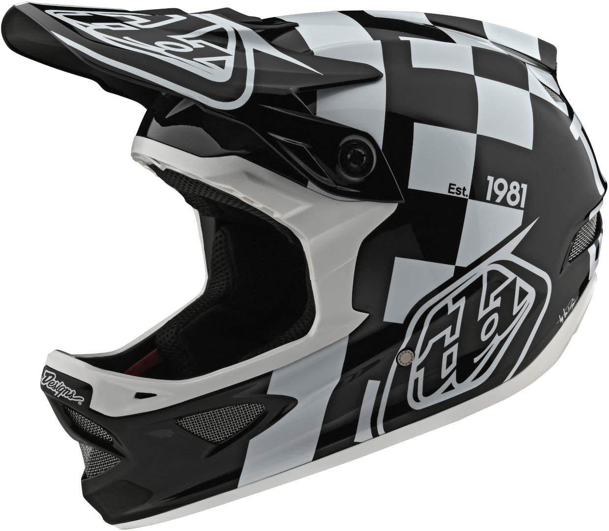 Troy Lee Designs D3 Fiberlite Raceshop Adult Off-Road BMX Cycling Helmet