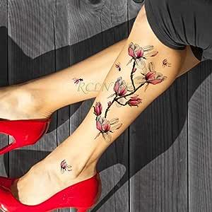 ljmljm 4pcs Impermeable Etiqueta engomada del Tatuaje Color de ...