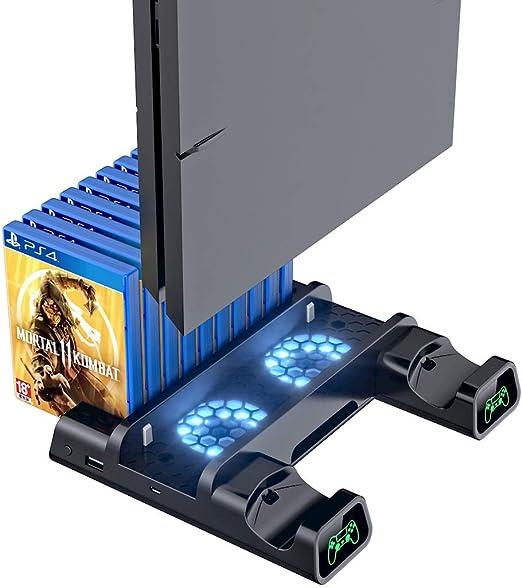 Ventilador de refrigeración compatible con PS4/PS4 Pro/PS4 Slim ...
