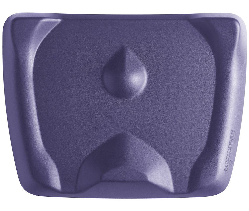Topo Mini by Ergodriven   The Smaller Not-Flat Standing Desk Anti-Fatigue Mat with Calculated Terrain (Mulberry Purple)