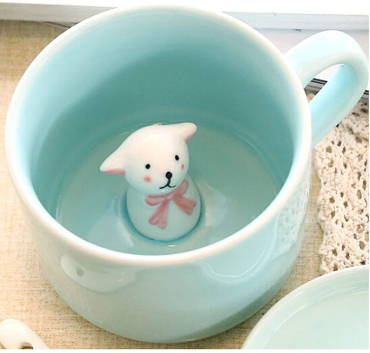 3dコーヒーマグCute Cartoon Animal Ceramics Cup – ベビー動物内側、Best Office Cup &誕生日ギフト8 oz [並行輸入品] (baby mouse) B07LBQ9PWD small sheep  small sheep