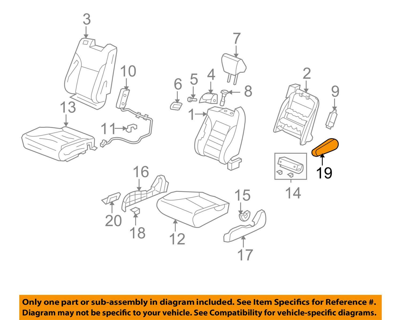 Right Front Honda Genuine 81180-SCV-L52ZC Seat Armrest Assembly