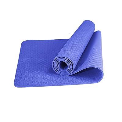 Tapis de yoga, Tapis de yoga débutant insipide Widen Insipide Tapis de fitness antidérapant ( Couleur : #2 , taille : 6mm )