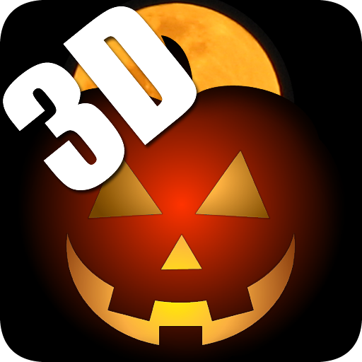 3D Halloween Pumpkin Live Wallpaper ()