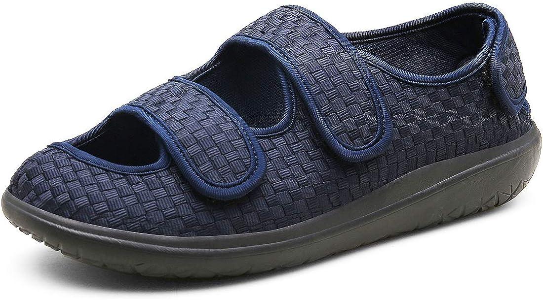 Sandales Hommes Femmes Chaussons Patients diab/étiques Dames Edema Swollen des Sandales Respirant Chaussures R/églables Chaussons de Maison Chaussures Taille Unisexe