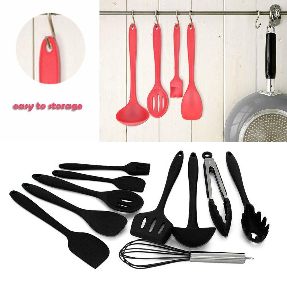10Sets Silikon Küchenutensilien Werkzeug, Home Backen Kochen ...