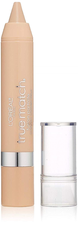 L'Oreal Paris True Match Super-Blendable Crayon Concealer, Fair/Light Neutral 0.10 oz (Pack of 2)