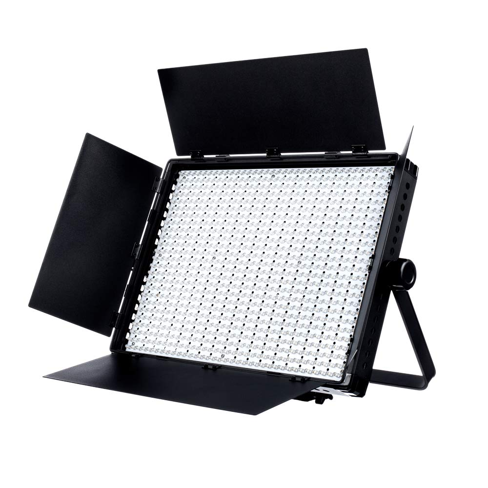 Fovitec - 1x Photography & Video 2nd Gen Bi-Color 1200XB LED Panel w/Filters & Case - [95+ CRI][Continuous Lighting][Stepless Knobs][V-Lock][3200-5600K]