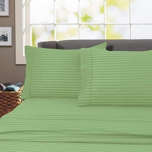 5 Pieces Split Sheets Sets For Adjustable Beds 1000 TC Cotton Navy Blue Stripe