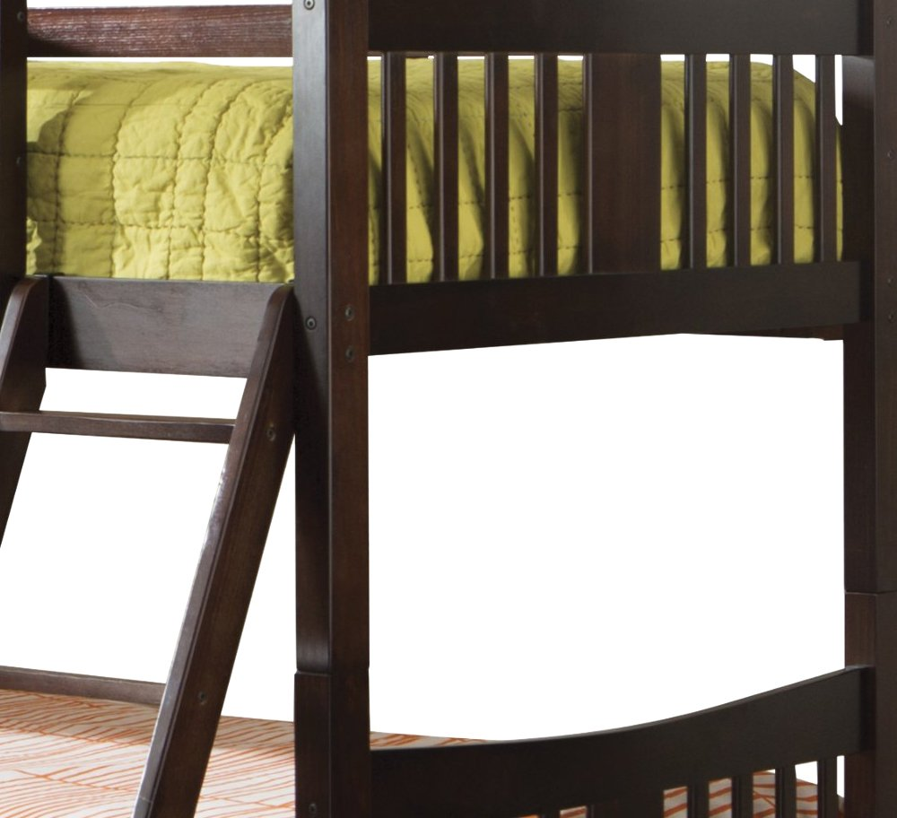 Storkcraft Caribou Solid Hardwood Twin Bunk Bed Espresso Stork